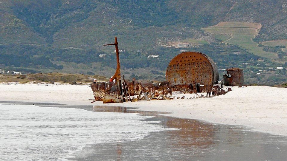 Shipwreck on Noordhoek beach